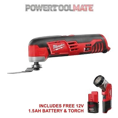 Milwaukee C12MT 12V Compact Multi-Tool with Torch and 1.5Ah Battery