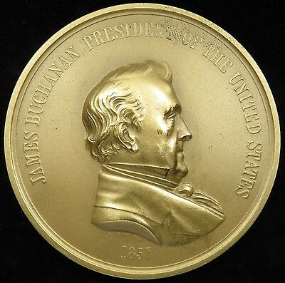 "U.S. Mint Medal No. 115 President James Buchanan 3"" Bronze"