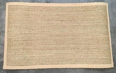 Pottery Barn Natural Color Bound Seagr 3x5 Rug Authentic