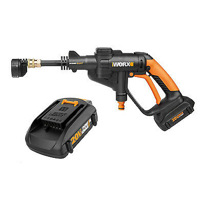 Worx Hydroshot 20V Lithium-Ion 320 PSI Cordless Pressure Washer Power Cleaner