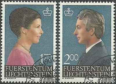 Timbres Personnages Liechtenstein 802/3 o lot 6502