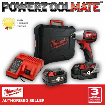 Milwaukee M18BID-402C 18V Compact Impact Driver with 2 x 4.0Ah Batteries & Case