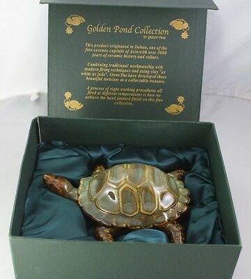 Ceramic Turtle Golden Pond Collection By Green Tree From Dehua Asia