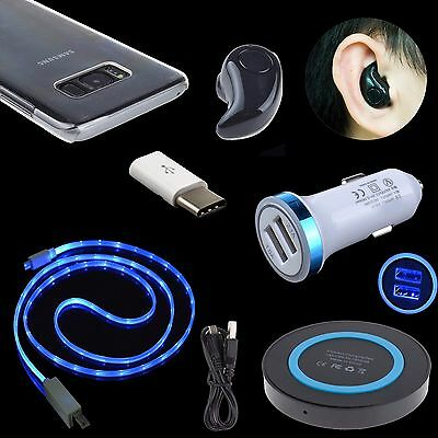 Mini Stereo Bluetooth Headset Earphone Cable Bundles for Samsung Galaxy S8 Plus
