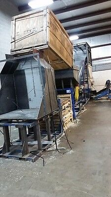 2008 Vecoplan RG 52 Single Shaft Shredder 100HP complete plastic recycling plant