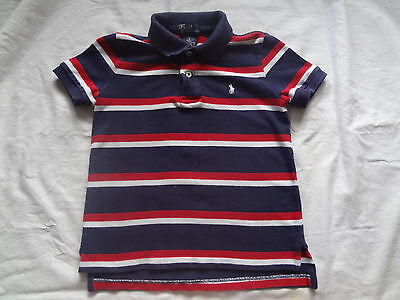 Boys Polo Ralph Lauren Short Sleeve Polo Shirt-Red/White and Blue (5)