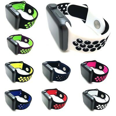 Replacement Silicone Nike Sports Strap 38mm/42mm For Apple Watch Series 1/2/3