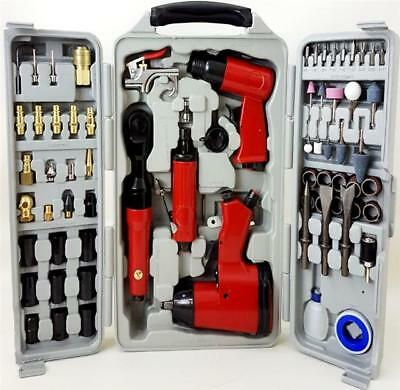 Progen Air Tool Kit Impact Wrench Die Hammer Ratchet Grinder Chisel 71Pcs