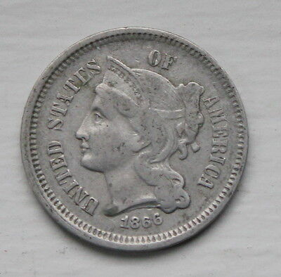 1866 Nickel 3 cent piece