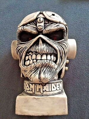 Aces High Metal Band Iron Maiden Head Bust Decor Resin 10¨ Brand New