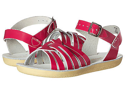 NEW LITTLE KIDS SALT WATER SANDAL STRAPPY SHINY PINK 8108S SUN-SAN BY HOY SHOES