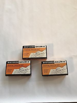 Vintage Dietzgen Skum-X 140P Drawing Cleaning Pad Lot Of 3 New In Box