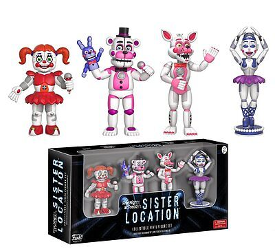 """NEW 2017 Five Nights At Freddy's 4 Pack 2"""" MINI Figure Serie 3 SISTER LOCATION"""