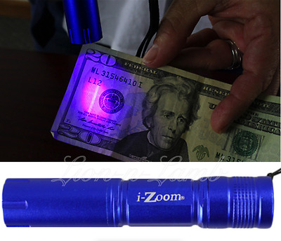 Counterfeit Bill Detector Cash Fake Money Checker Black UV Light Ultra Violet