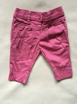 Pink Trousers 3-6 Months Baby Girls Adjustable Waist