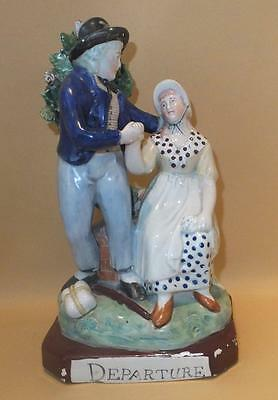 Staffordshire Pearlware Figure Of Sailors Departure C1820