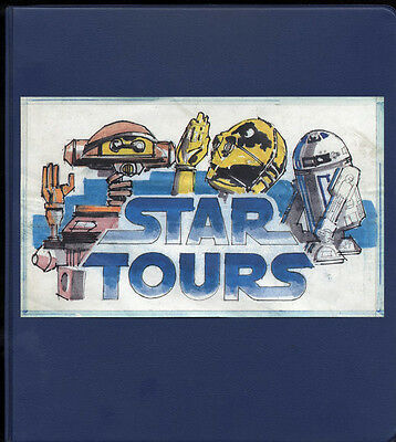 Star Tours Prototype Logo  Concept 3-Ring Binder Star Wars Disney Ride