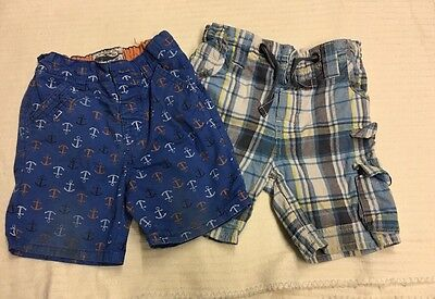 Two Pair Boys Shorts 12-18 Months