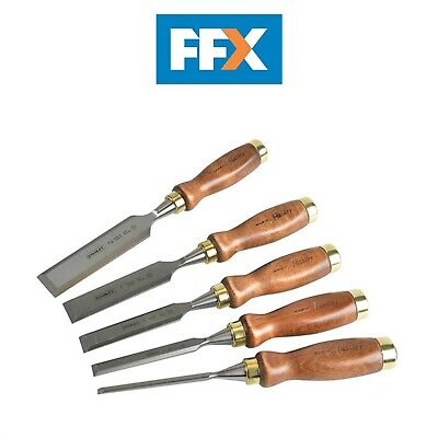 Stanley STA116503 Bailey Premium Chisel 5 Piece Set in Leather Pouch