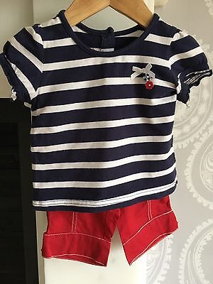 Baby Girls T-shirt & Trousers Outfit from Pumpkin Patch age 6-12 Months