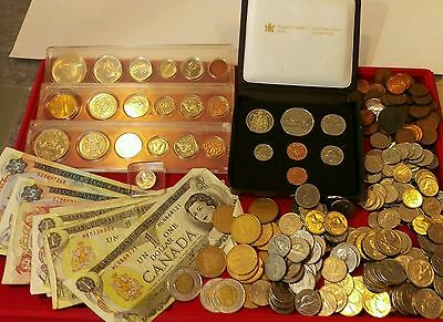 308 Canadian Coins & Currency With Silver & Proof Issues Over $70 Face Value !!