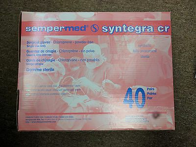 Sempermed Syntegra Surgical Glove Synthetic CHLOROPRENE Size 6 #SCR600 NEW 40/BX