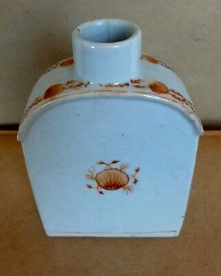 Chinese Export Porcelain Ceramic Tea Caddy Hand Painted 18th Century C. 1790's
