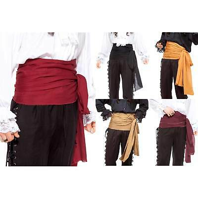 12 Ft Large Pirate Waist Sash Red Black Tan Purple Orange Mens Womens Costume
