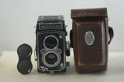 Rolleiflex ( K4A ) 3.5 MX Automat Opton-Tessar with Cap & Case TLR Camera