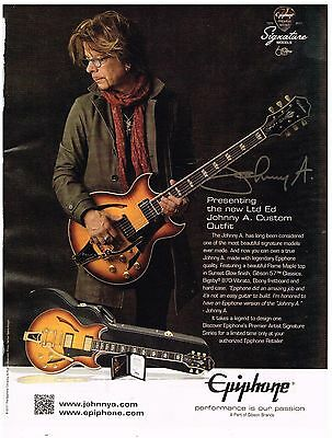 Epiphone - Custom Outfit - Johnny A - 2017 Print Advertisement
