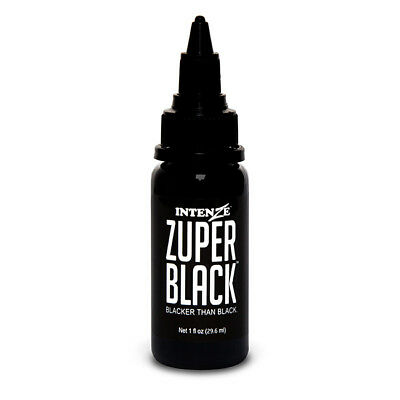 Zuper Black — Intenze Tattoo Ink — 1oz Bottle