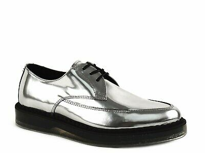 Diesel Kalling Oxford Women's Fashion Casual Dress Silver Leather Shoes