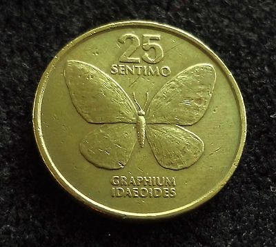 Philippines 1984 25 Sentimo Butterfly Coin