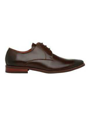 NEW Blaq Edmonds Chisel Toe Lace Up Chocolate