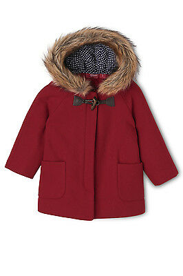 NEW Sprout Duffle Coat Raspberry