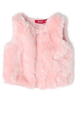 NEW Sprout Fur Vest Pink