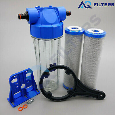 Koi Pond Water Filter For Fish Pond Chlorine Removal Dechlorinator 2 Filters K5