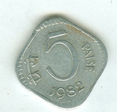 India 1982 5 Paise--Circulated