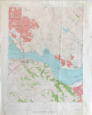 Vallejo/Martinez and Benica, California  Topographical Map 1959