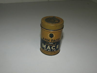 * Vintage Ann Page Pure Ground Mace Advertising Tin *