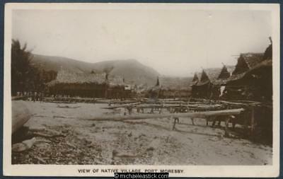 View of Native Village, Port Moresby, New Guinea