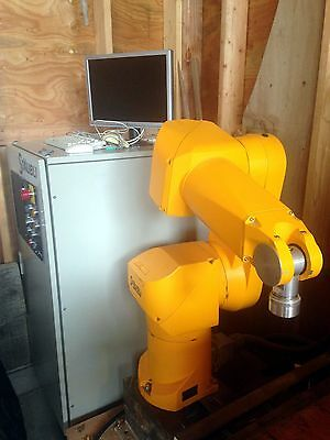 Staubli RX90 industrial robot system.  Includes CS7 controller and control cable