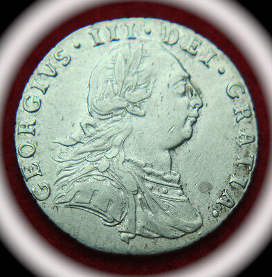 1787 Great Brtiain George III Silver Shilling - No Reserve