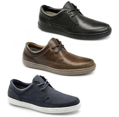 Red Tape MARDEN Mens Soft Leather Nubuck 2 Eye Lace-Up Comfy Padded Casual Shoes