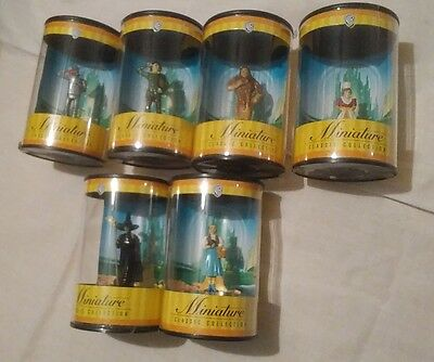 1999 WB MINIATURE CLASSIC COLLECTION WIZARD OF OZ vintage Lot Of 6 Wicked Witch