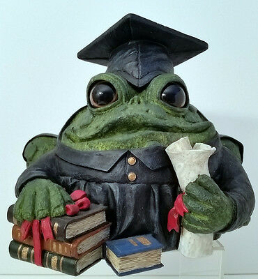 REDUCED! Last One! Toad Hollow Graduate Toad. Great for Educators! FREE SHIPPING