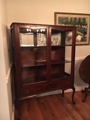 Antique China Cabinet with Original Glass