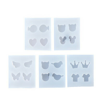 5x Silicone Jewelry Mould Mold for Resin Jewelry Making Pendant Crown Design