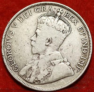 1919-C Newfoundland 50 Cents Silver Foreign Coin Free S/H