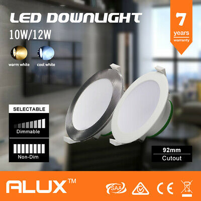 10W 12W LED DOWNLIGHT KIT WARM & COOL WHITE & SATIN FRAME DIMMABLE NON DIM down